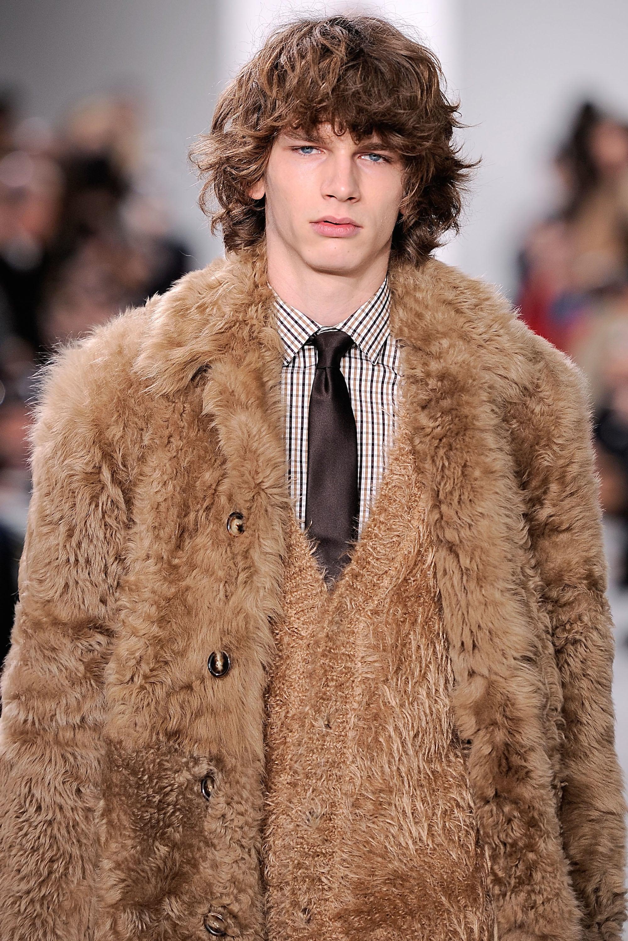men curly medium length hair michael kors 140 fw161