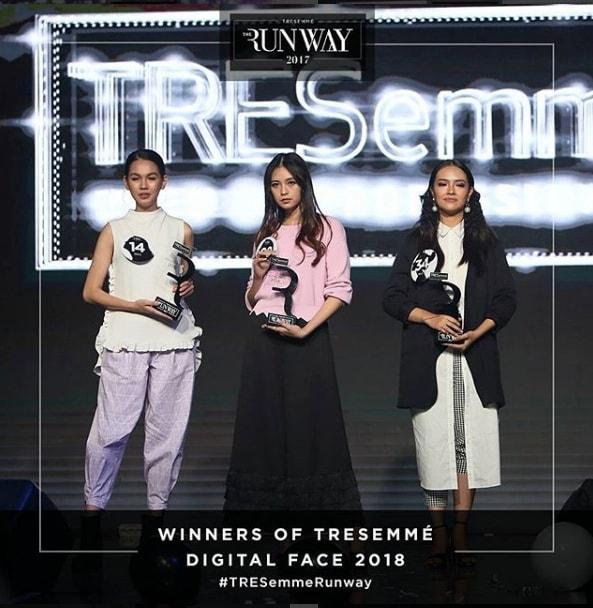 Tiga pemenang TRESemmé Runway 2017 didaulat menjadi TRESemmé Digital Face 2018.
