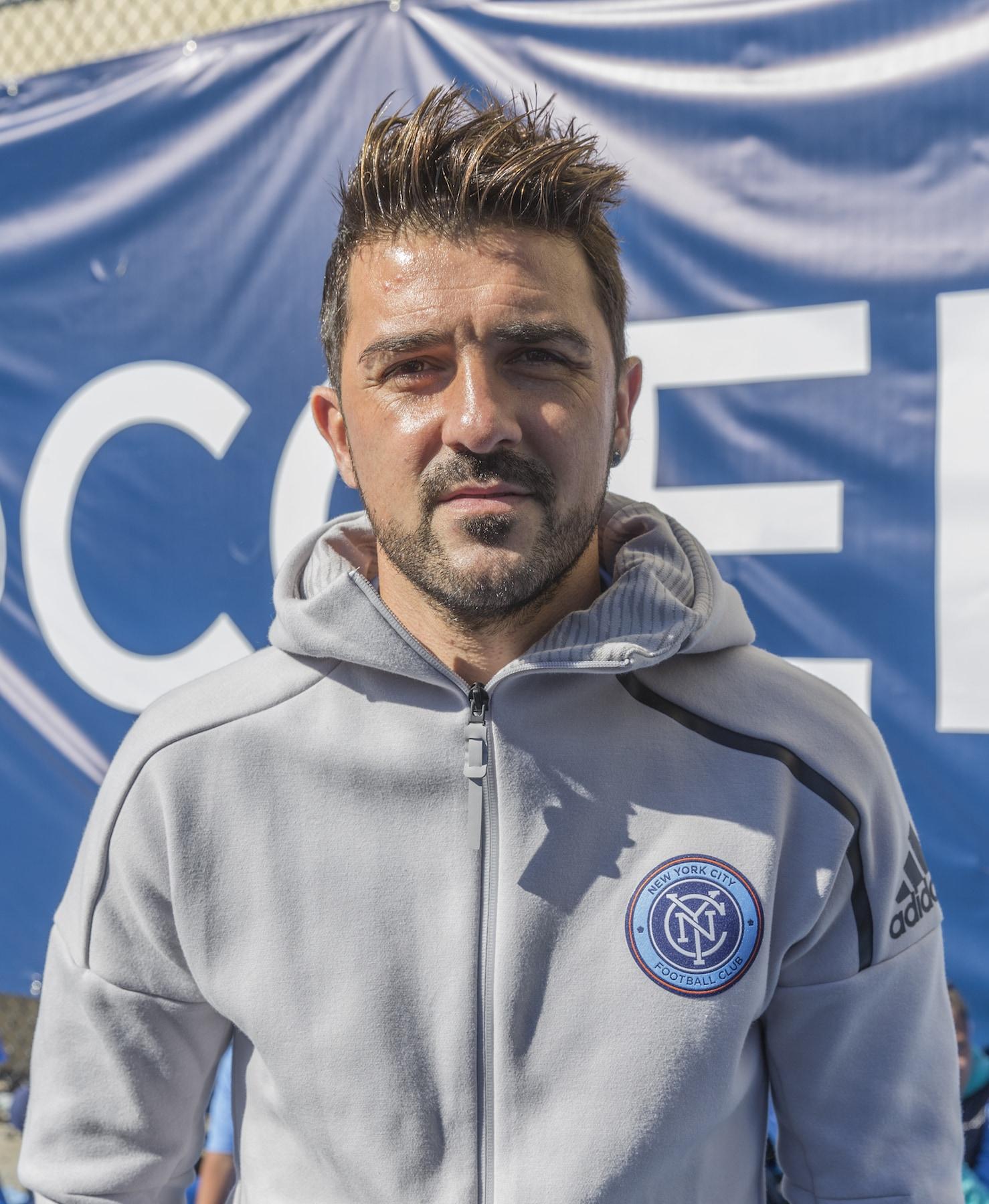 David Villa gaya rambut pemain sepak bola