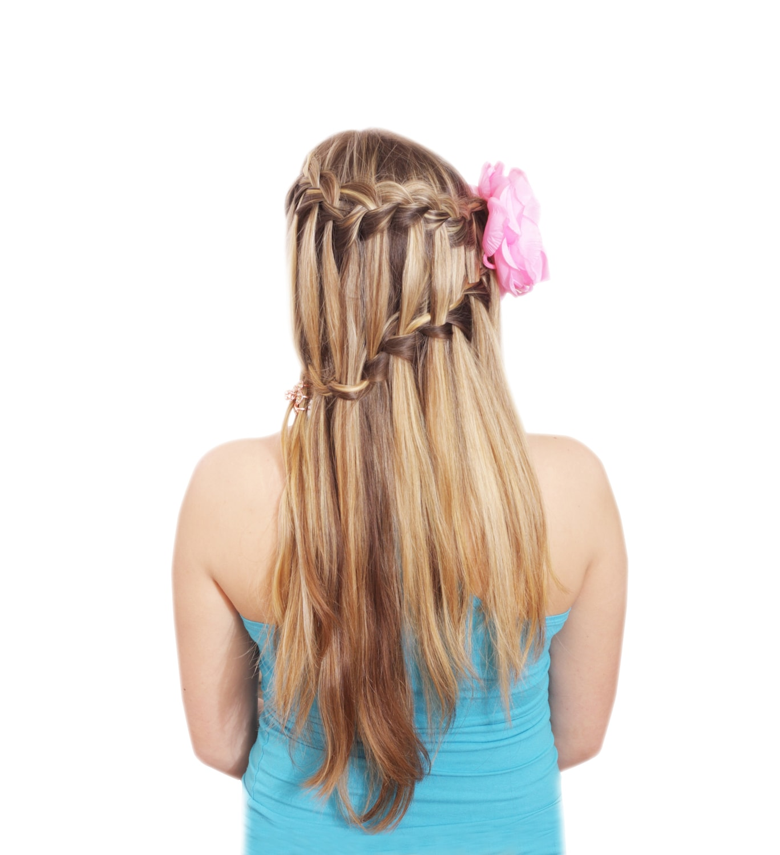 Waterfall braids model bertingkat.