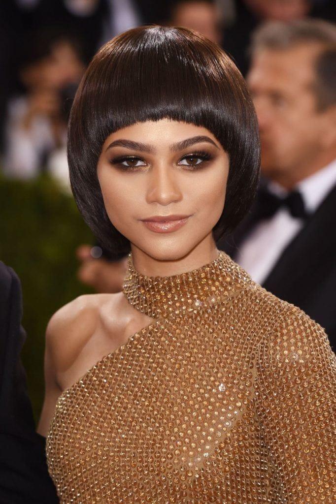 gaya rambut bowl cut Zendaya