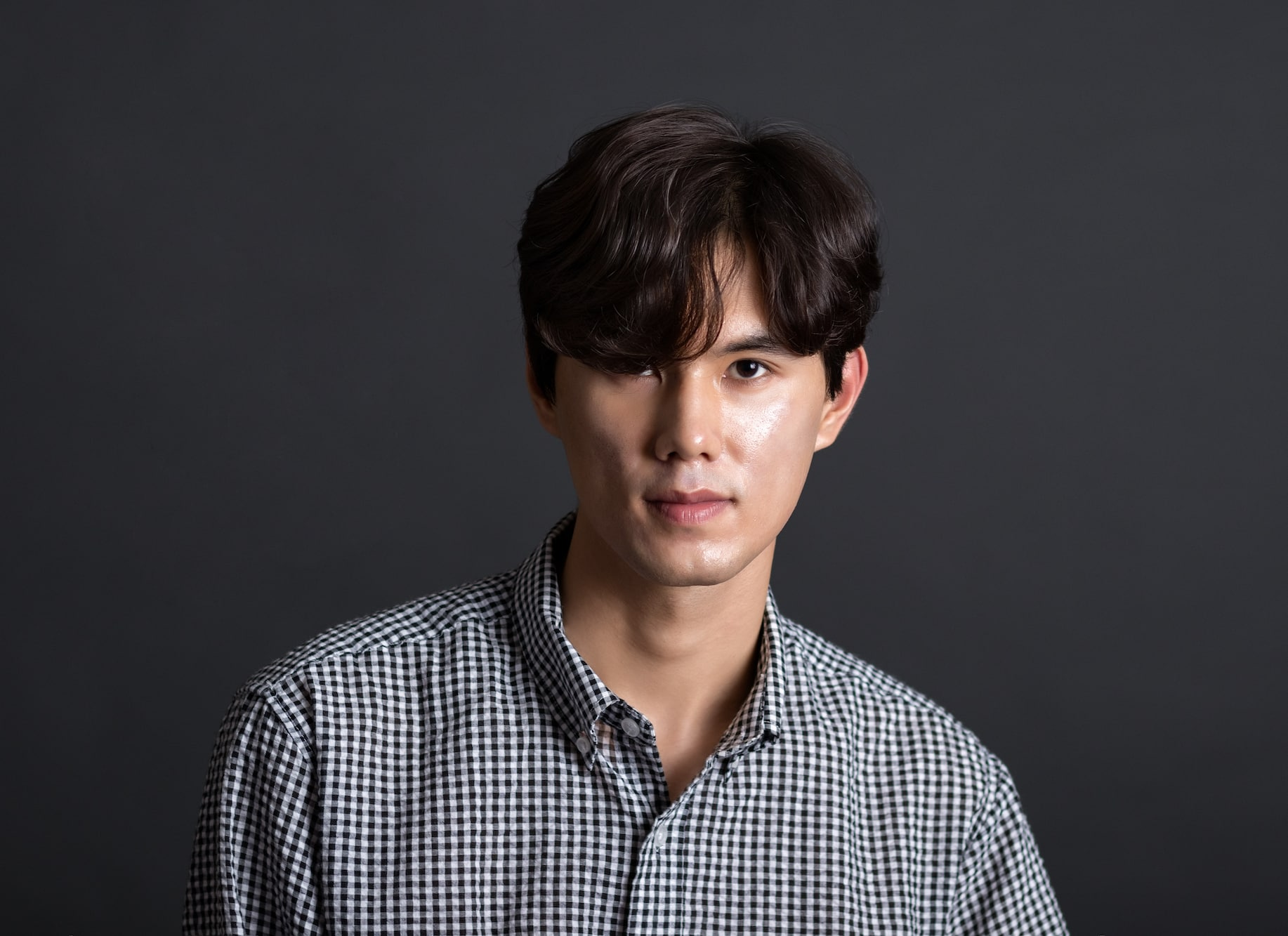 Model rambut pria asia comma hair.