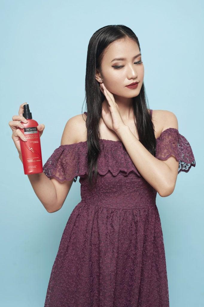 Curly Blow Dry - menyemprotkan heat protection