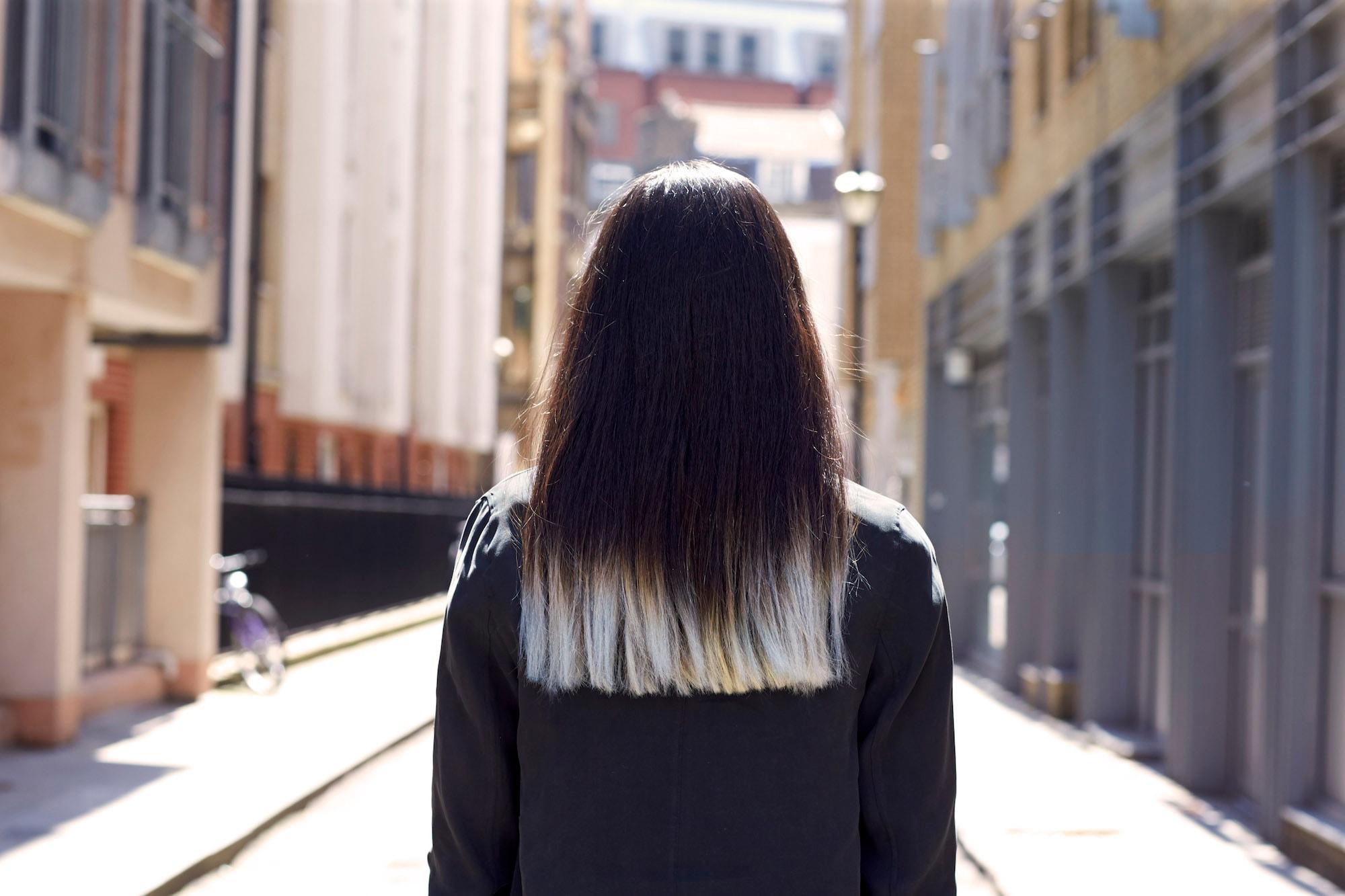 3 paduan rambut dark brown dan ombre abu abu
