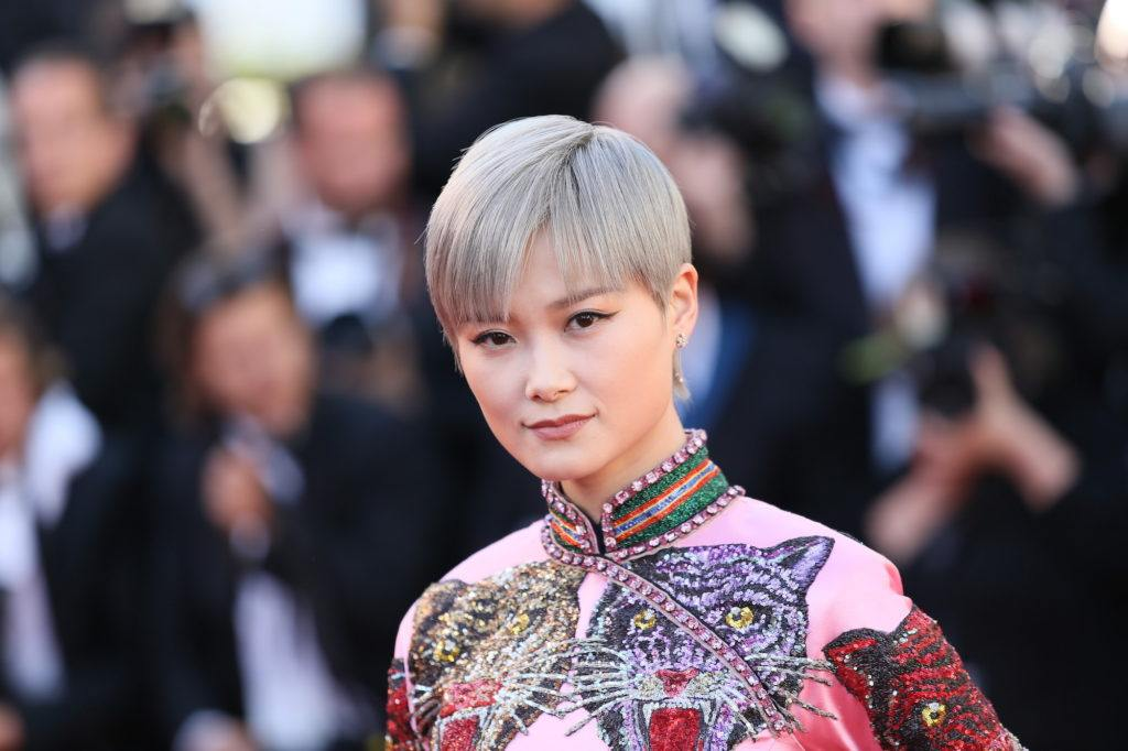 Li Yuchun dengan gaya rambut pixie.