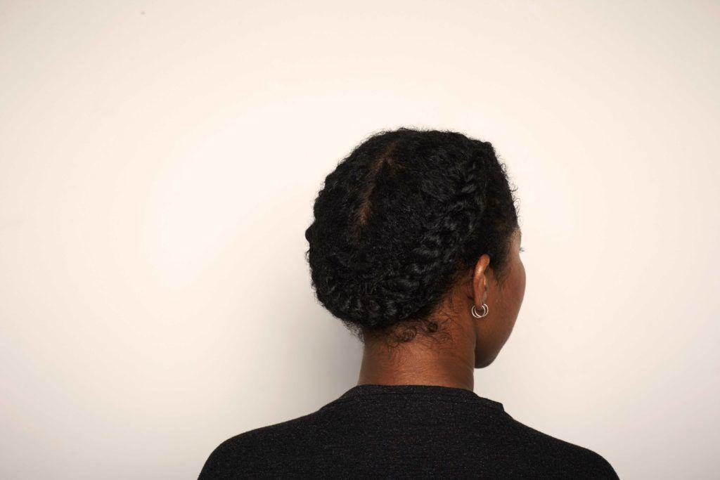 Gaya rambut flat twist halo