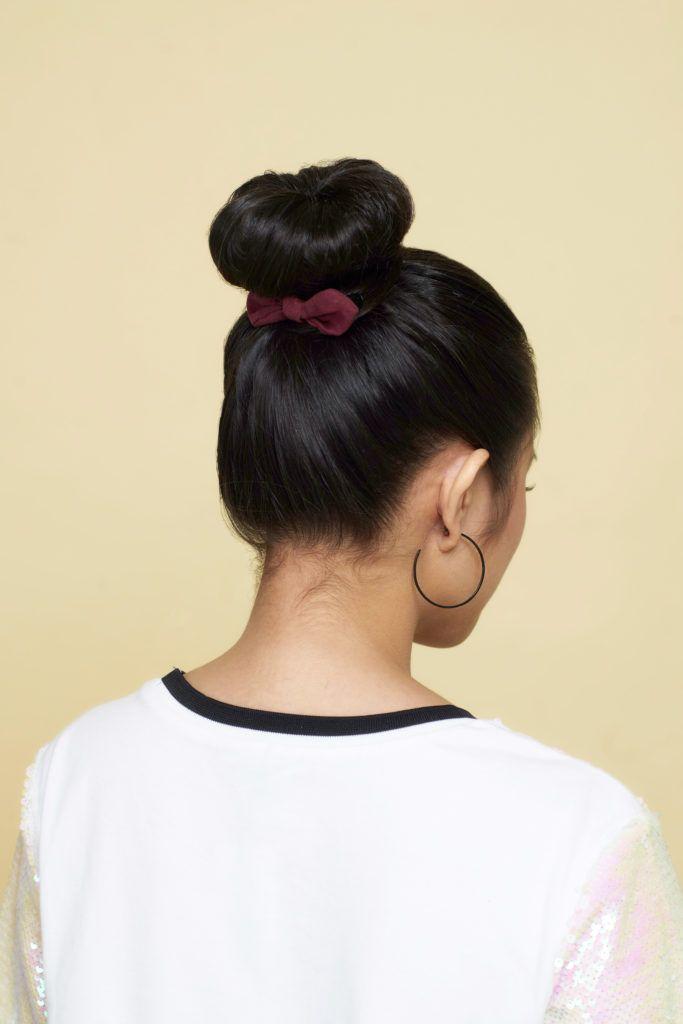 cara menata rambut pendek gaya cepol