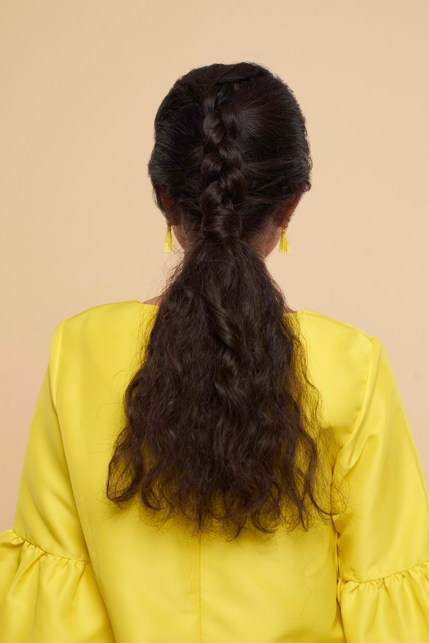 inverted braid atau Dutch braid