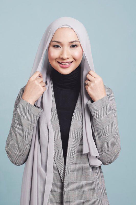 Step 1 - tutorial hijab modern.