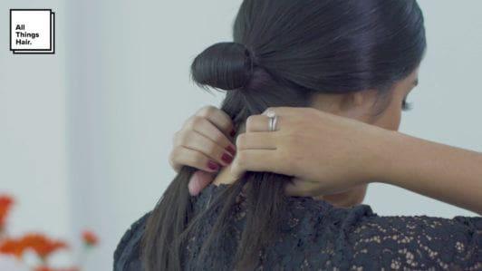 Step 7 sleek low knot- Anna Oktarina.