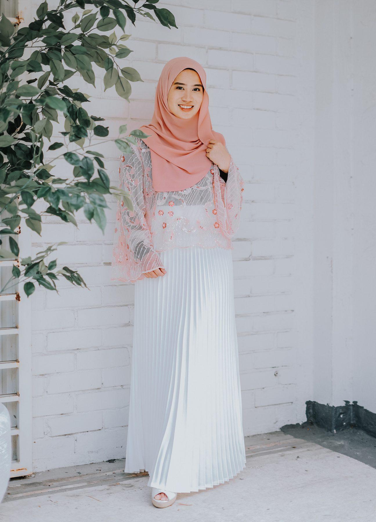 Casual hijab rok plisket