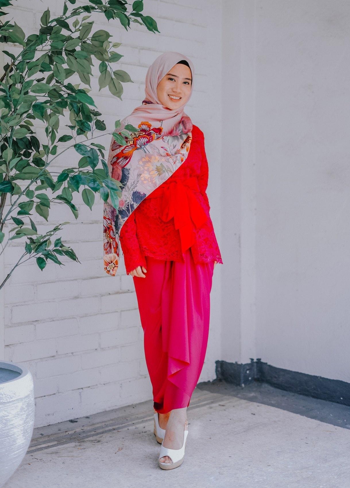 Casual hijab rok lilit