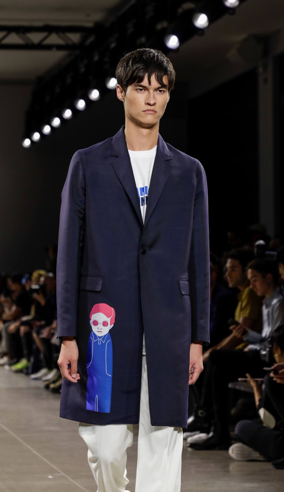 Model rambut pria fringe wet look