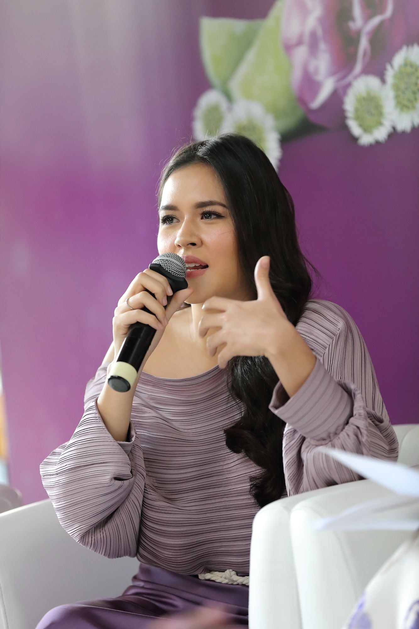 Raisa Andriani pada press conference campaign tak terhentikan
