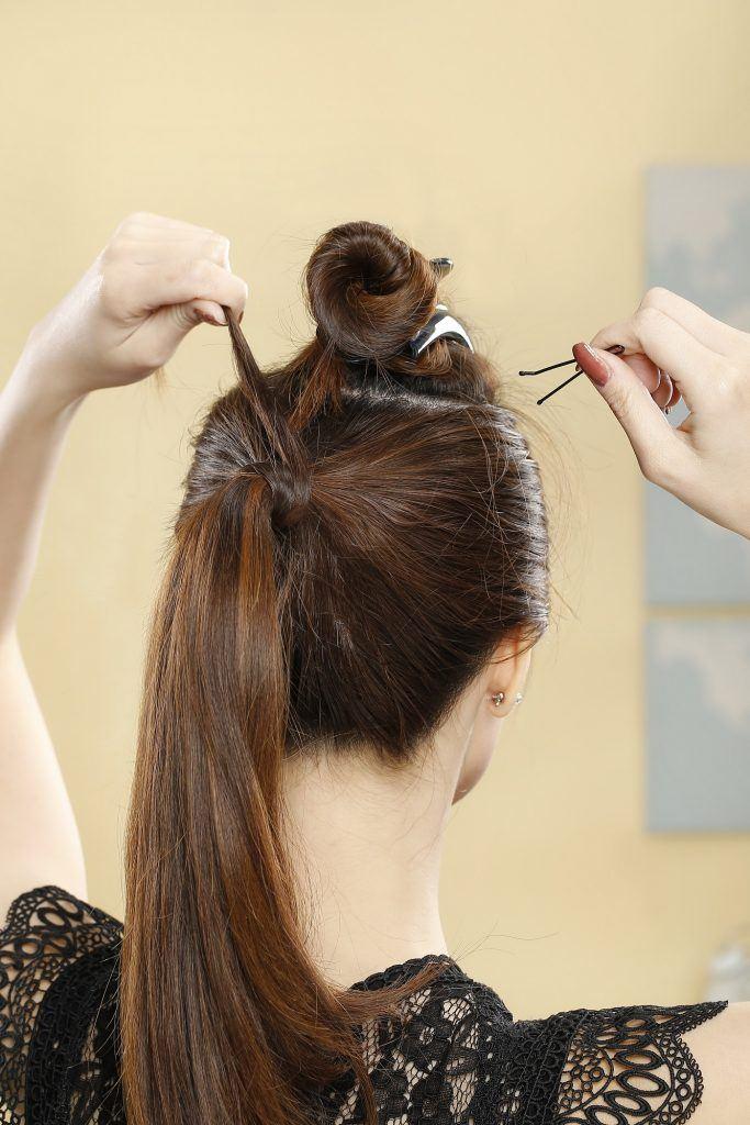 gaya rambut pompadour wanita