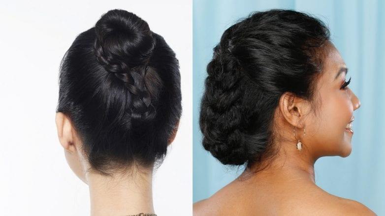 2 cara menata sanggul kepang untuk wanita asia