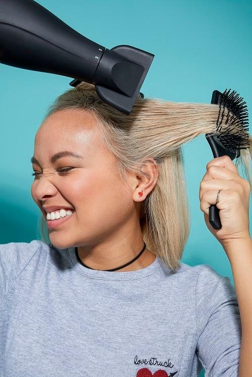 corte bob rubio tintura cuidado secado peinado cepillo