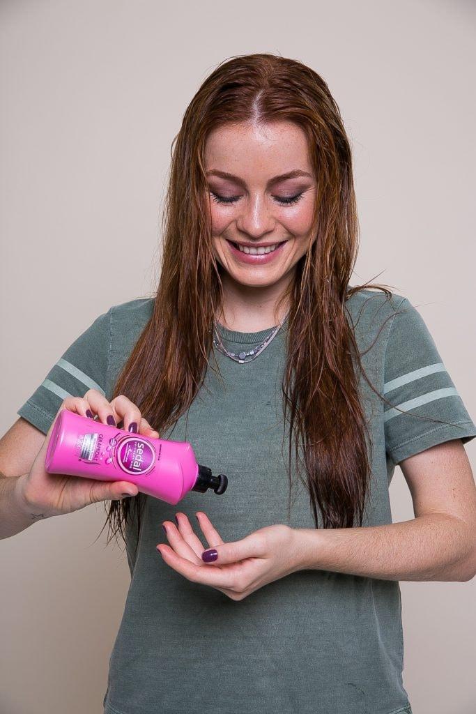 paso a paso cuidado del pelo producto Sedal Crema para Peinar Ceramidas