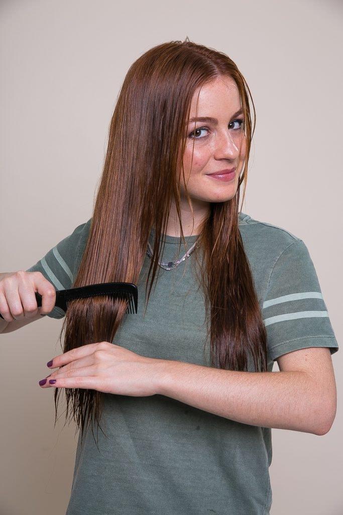 paso a paso peinado peine pelo mojado