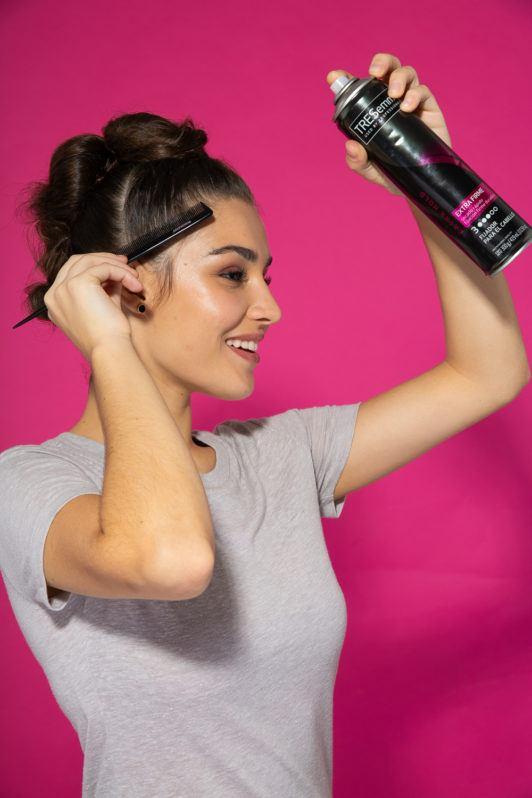 peinado mohawk para mujer paso 5