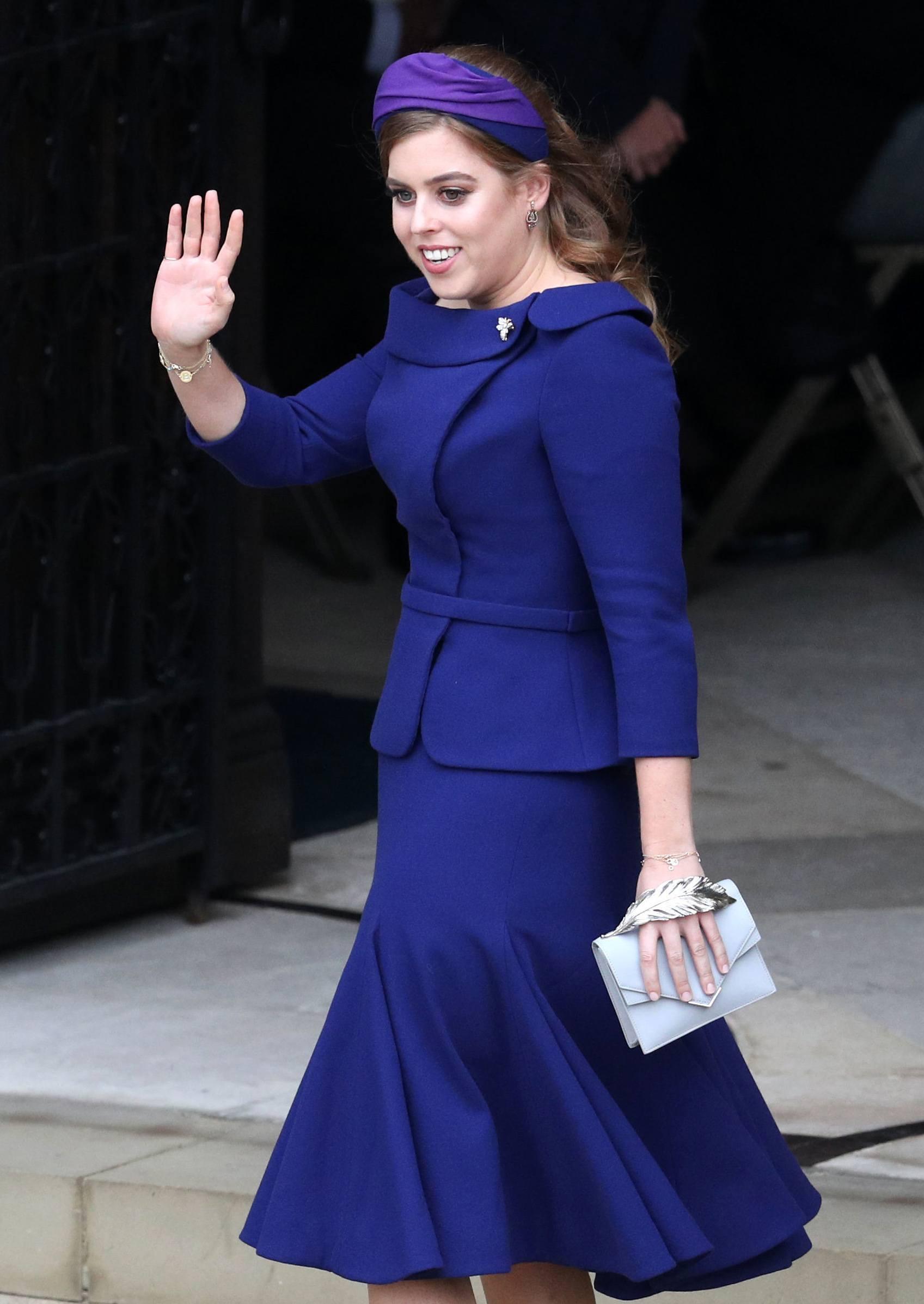 Charlotte en la boda de n la boda de Princesa Eugenie y Jack Brooksbank