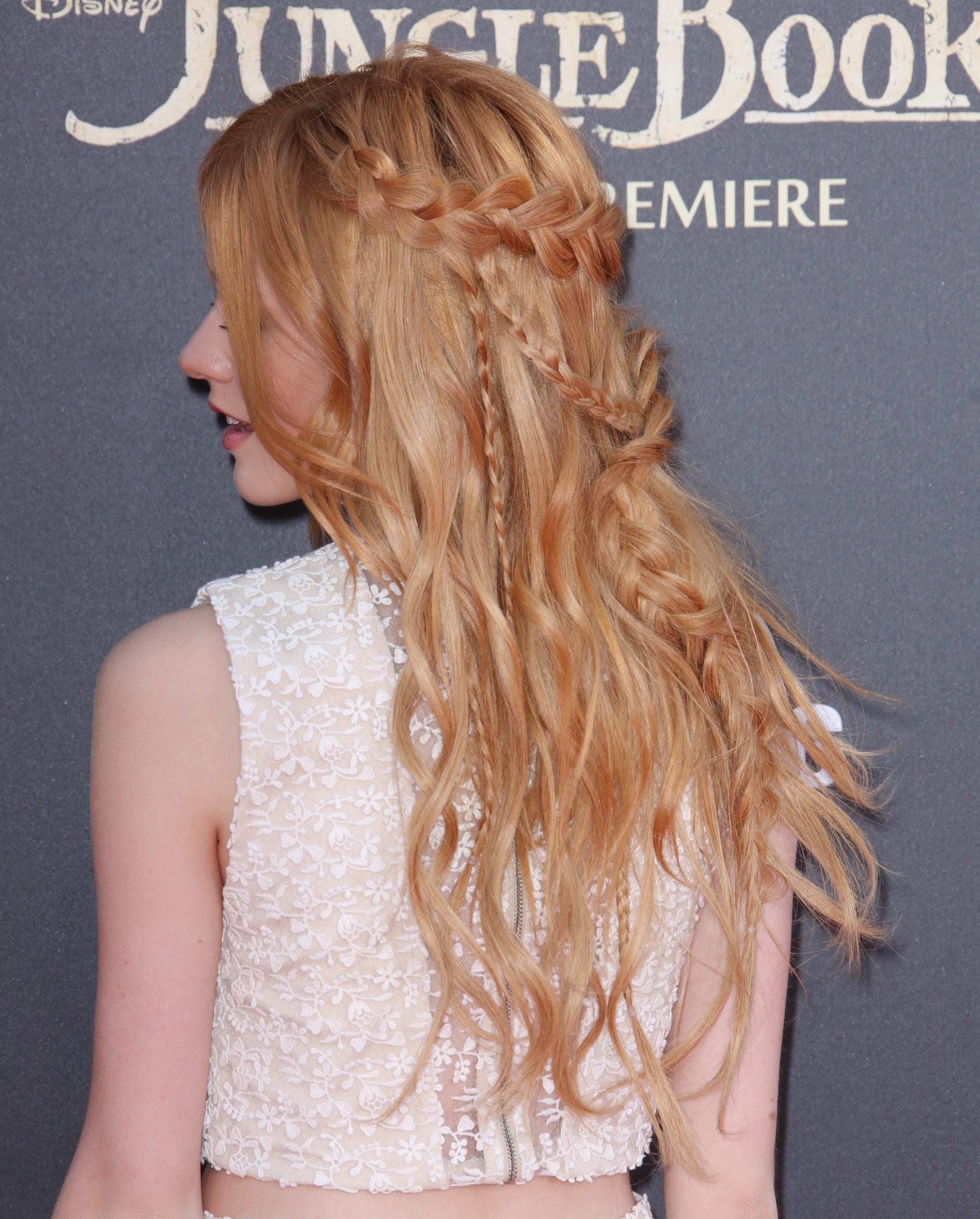 peinado semirecogido con trenzas de atras