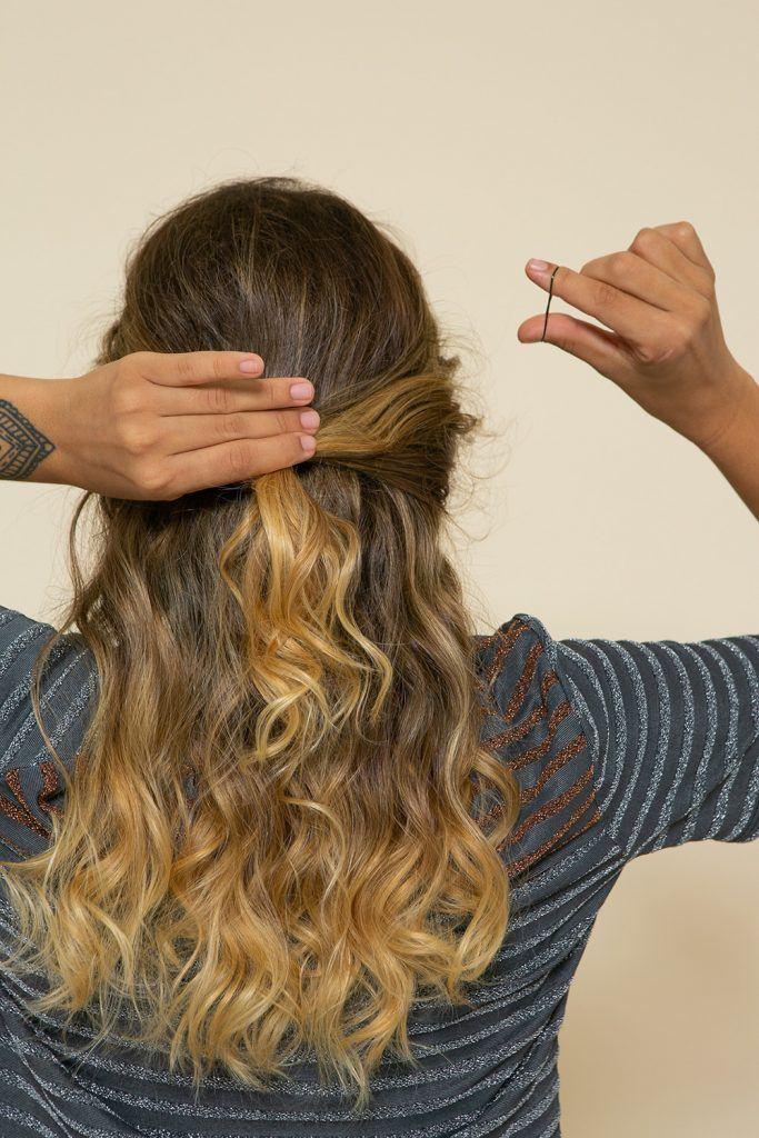 Peinado recogido con rulos - paso 2