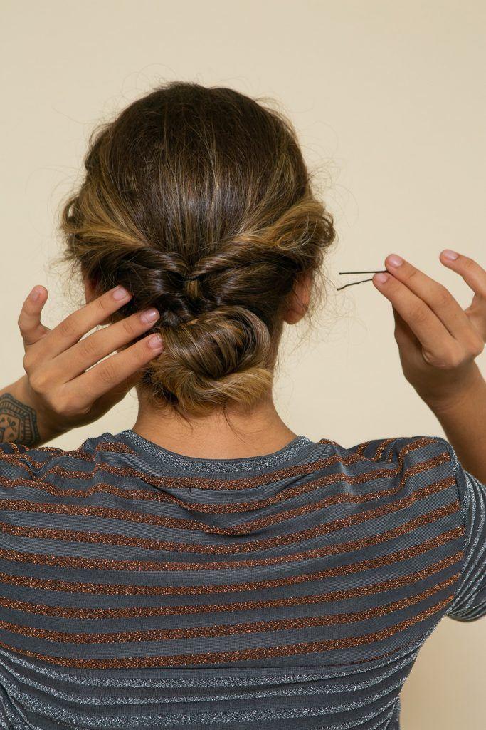 Peinado recogido con rulos - paso 5