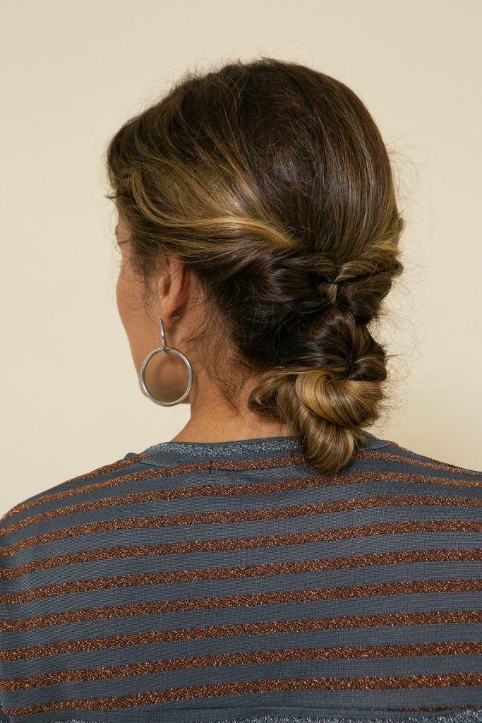 Peinado recogido con rulos