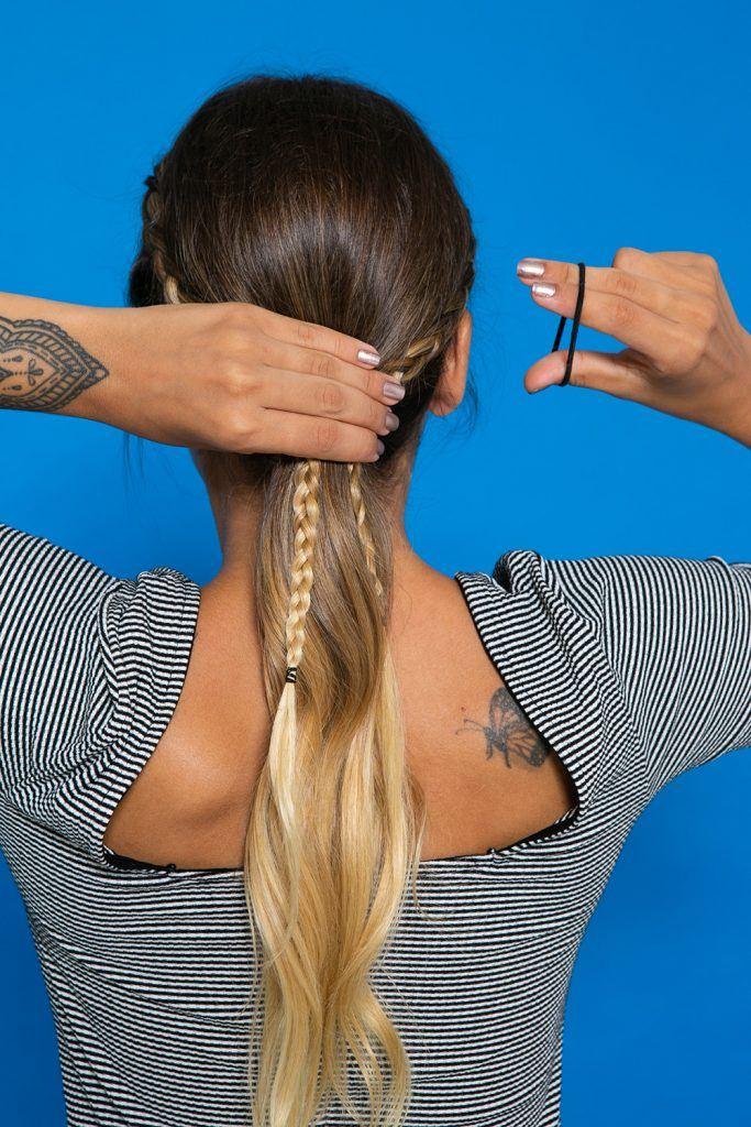 peinado recogido con trenza paso a paso
