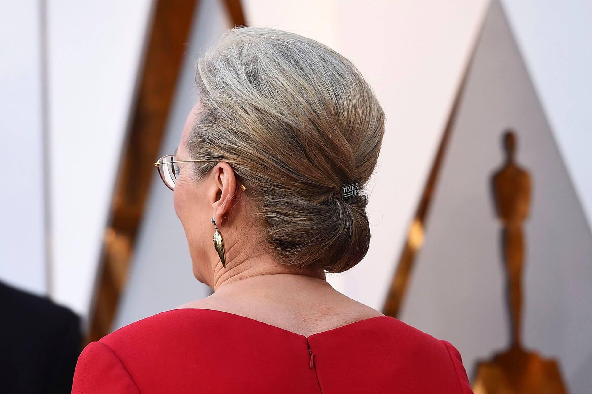Meryl Streep con peinado recogido con volumen