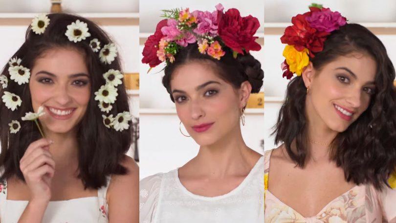 peinados con flores icónicos