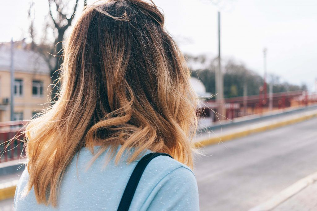 woman with an ombre hairstyle