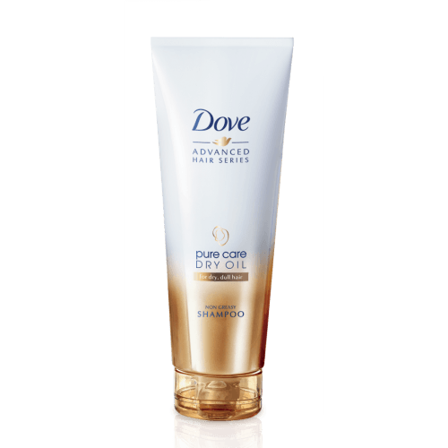 Dove Pure Care Dry Oil Shampoo_front of bottle_250ml.