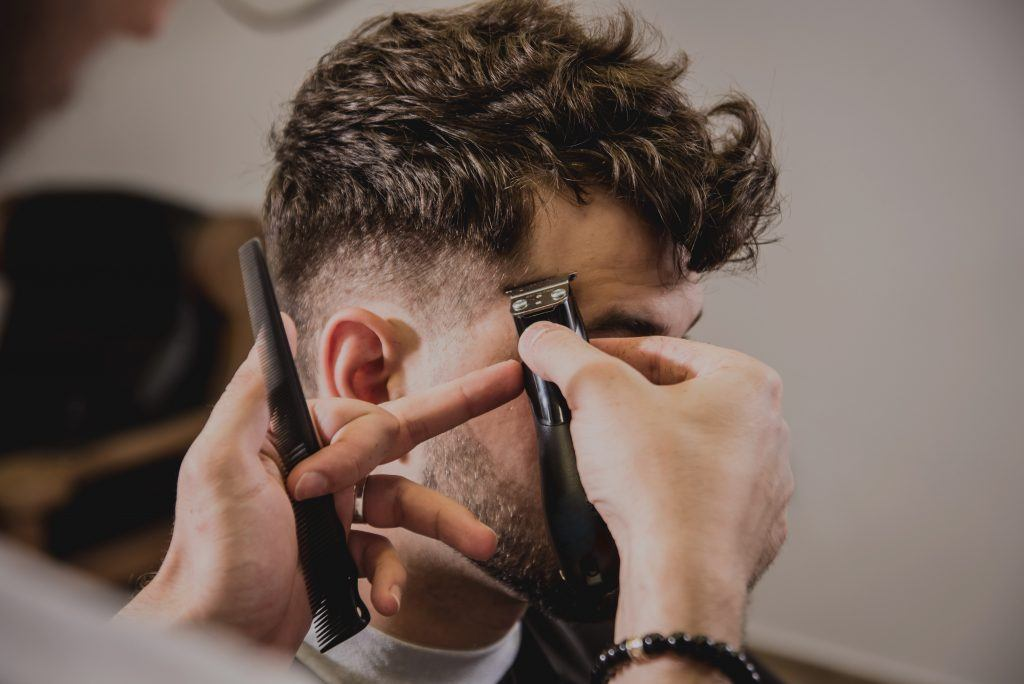 man with tousled hair