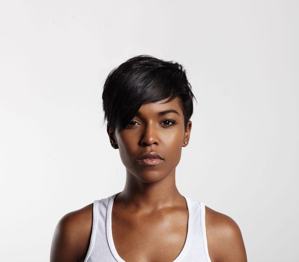 woman with Asymmetrical cut