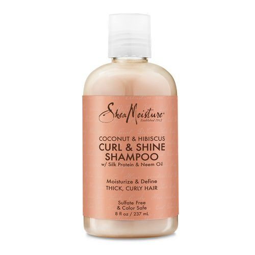 Shea Moisture Coconut & Hibiscus Curl & Shine Shampoo front of pack