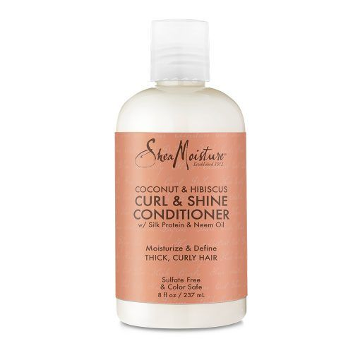 Shea Moisture Coconut & Hibiscus Curl & Shine Conditioner front of pack