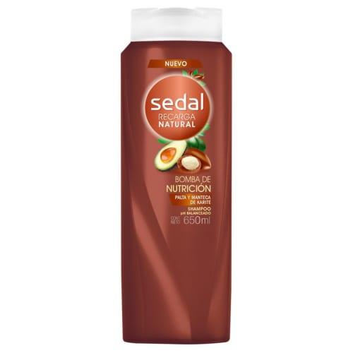 Shampoo Sedal Bomba de Nutrición Cacao y Aguacate
