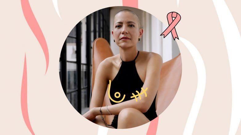 Marika Vera con el cabello rapado a causa del cáncer de mama