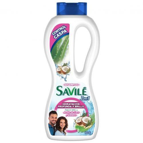 Shampoo 2 en 1 Savilé Control Caspa Aceite de Coco y Romero