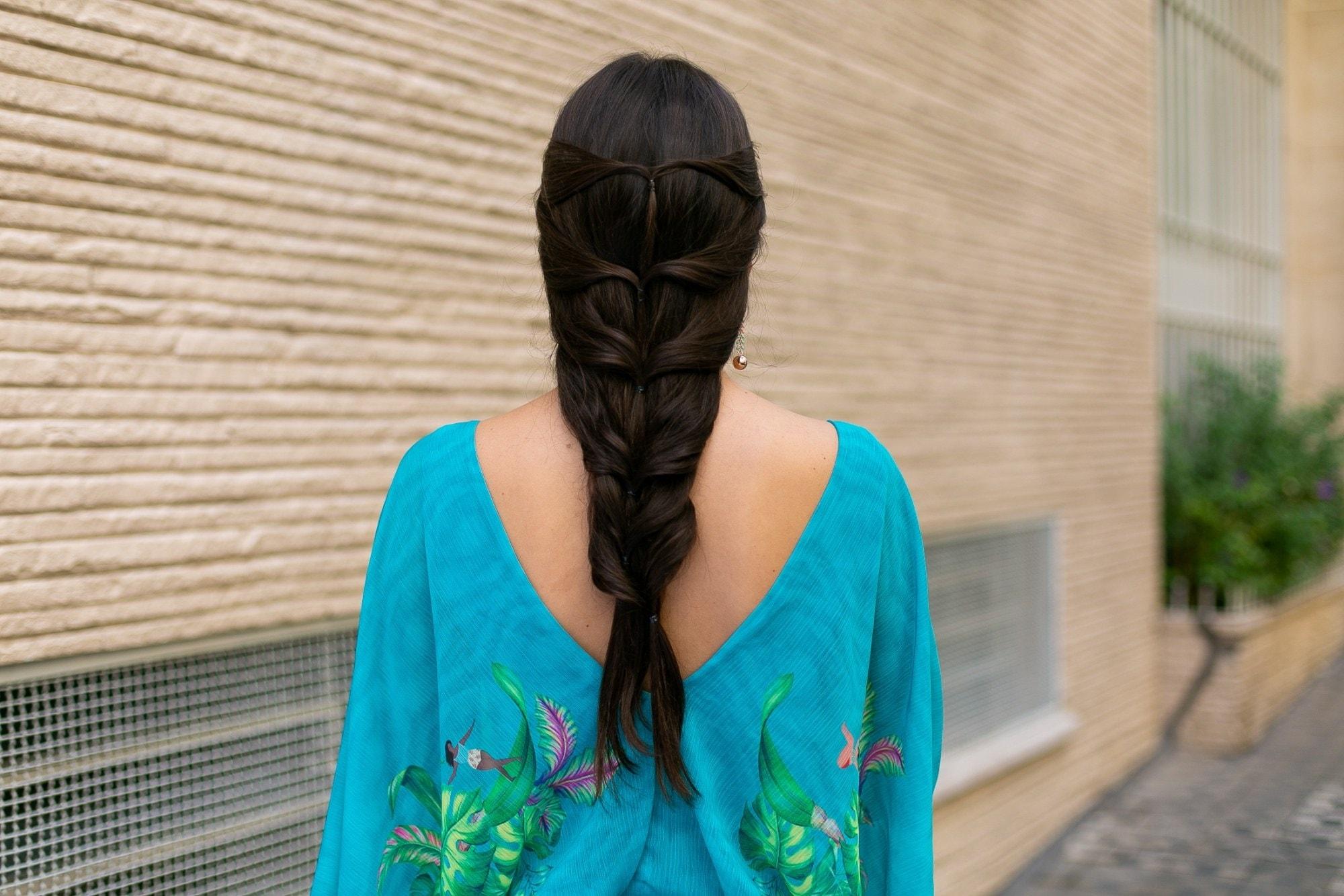 Penteado trança grega