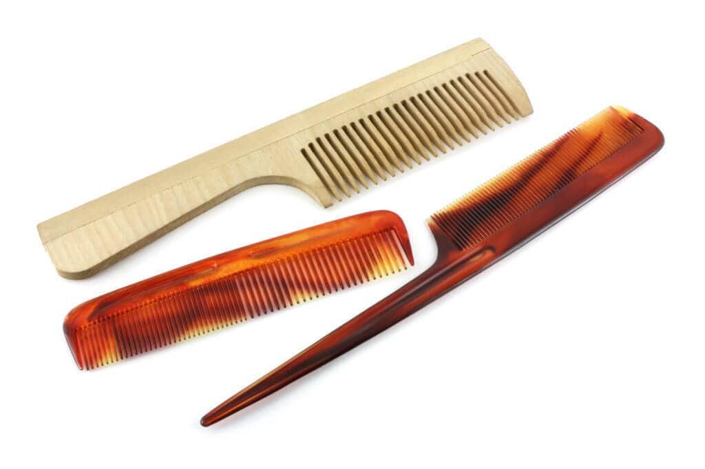 tipos de pentes de cabelo: pente garfo