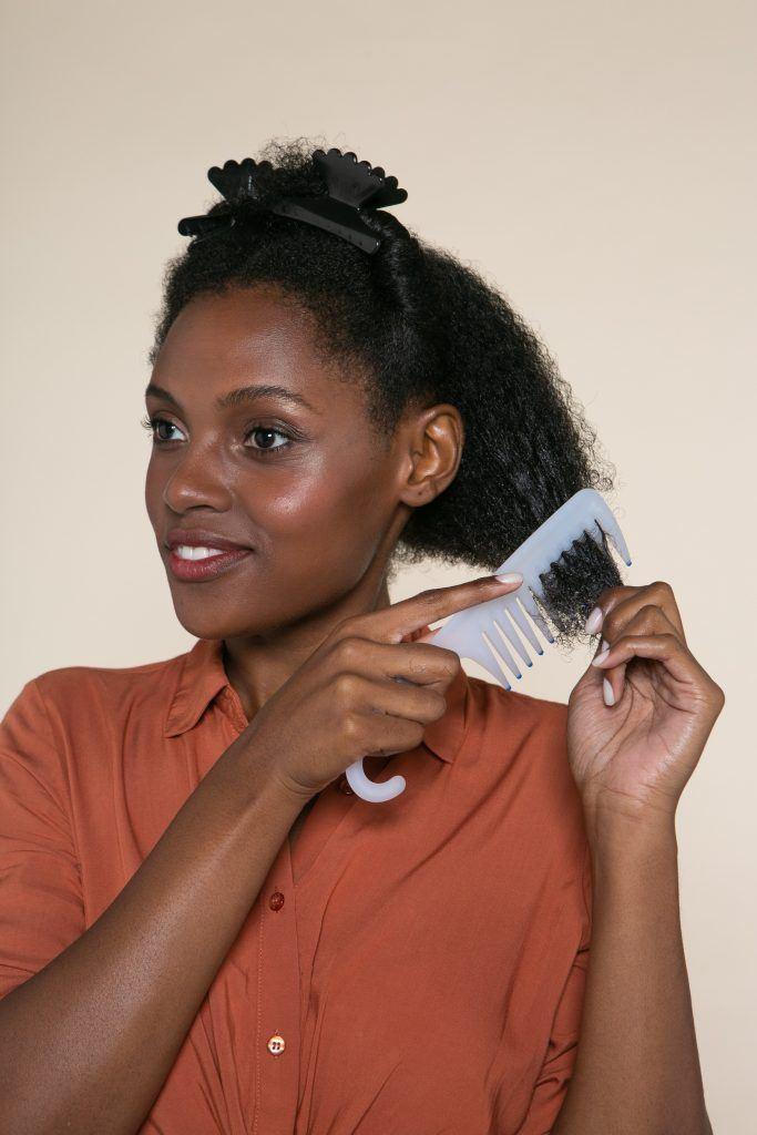 Modelo penteados os cabelos crespos