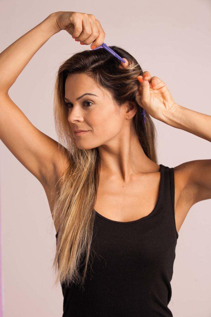 modelo de como deixar cabelo ondulado passo 3