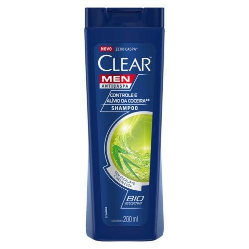Shampoo Clear Men Controle e Alívio da Coceira