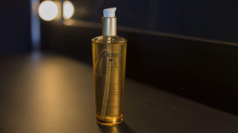 produto de óleo de tratamento dove pure care dry oil