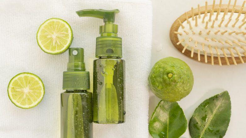 imagem de montagem para aplicar limão no cabelo