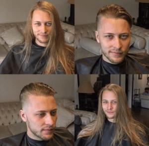 Conheça o @scotchandscissors desse salão canadense reune o antes e depois de vários homens que fizeram cortes que transformaram radicalmente o visual. Crédito: Instagram/@scotchandscissors