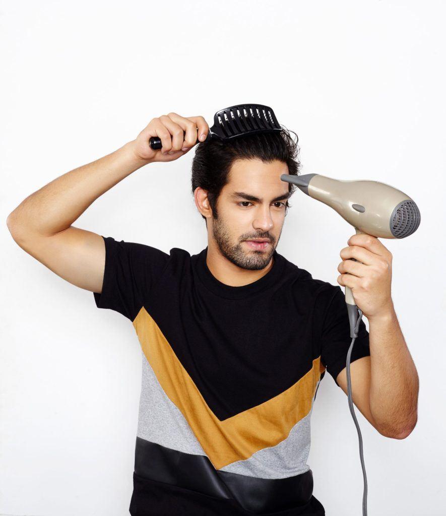 Como secar o cabelo masculino 2